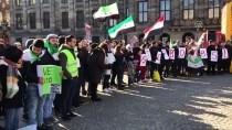 KATLIAM - Amsterdam'da 'Doğu Guta'da Bombaları Durdur' Gösterisi