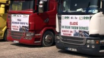 YAKIN TAKİP - Elazığ'dan 17 Yardım Tırı Suriye'ye Yola Çıktı