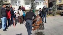 KAYABAŞı - Niğde'de Otomobil At Arabasına Çarptı