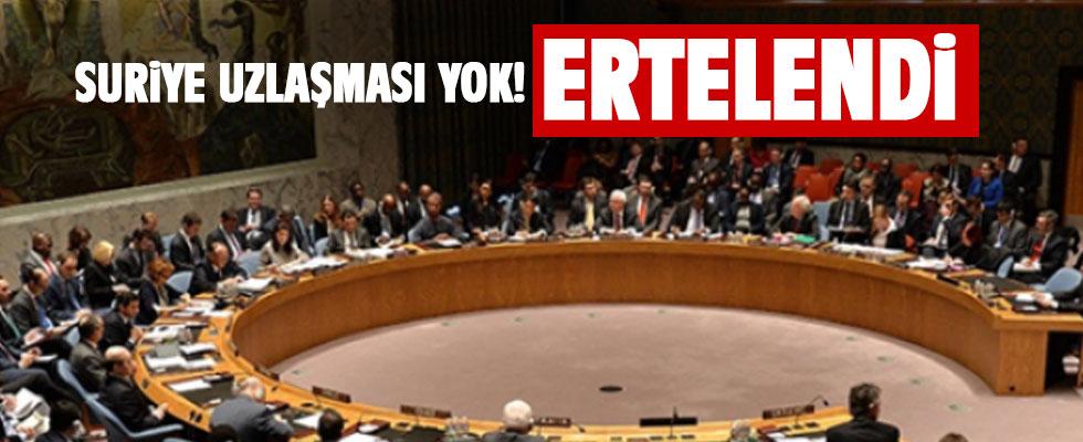 Suriye'de 'İnsani Ateşkes' oylaması ertelendi