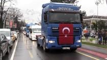 YOLCU OTOBÜSÜ - Düzce'de Zeytin Dalı Harekatı'na Destek Konvoyu