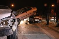 HIZ SINIRI - Konya'da 8 Araç Birbirine Girdi Açıklaması 2 Yaralı