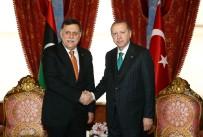 LIBYA - Cumhurbaşkanı Erdoğan, Libya Başkanlık Konseyi Başkanı El Sarrac'ı Kabul Etti