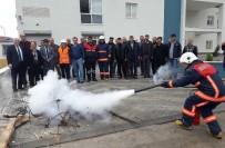 İŞ GÜVENLİĞİ UZMANI - Erdemli Sağlık Müdürlüğü Personeline Yangın Eğitimi