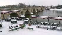 TRAFİK YOĞUNLUĞU - Trakya'da Kar Yağışı