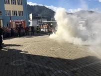 Ahmetlili Öğrencilerden Yangın Tatbikatı