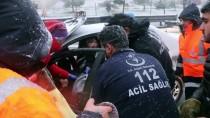 BOLU DAĞı - Anadolu Otoyolu'nda Trafik Kazası Açıklaması 2 Yaralı