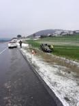 GİZLİ BUZLANMA - Tekirdağ'da Otomobil Takla Attı Açıklaması 1 Yaralı