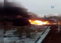 AZEZ - İdlib'te Rus Savaş Uçağı Düşürüldü