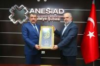 YOL HARITASı - Başkan Gürkan'dan ANESİAD'a Ziyaret
