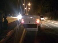 KOMANDO OKULU - Isparta'da Kaza Yapan Araç Ters Döndü Açıklaması 1 Yaralı