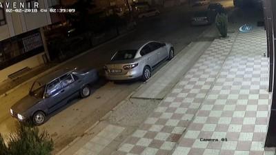 Acemi hırsız güvenlik kamerasına yakalandı