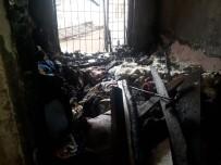 EVDE TEK BAŞINA - Devrilen Elektrik Sobası Yaktığı Evden Canını Zor Kurtardı