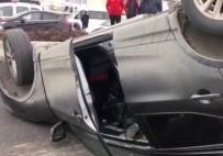 YEŞILKÖY - Takla Atan Aracı Sürücüler Çevirdi