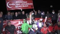 MUSTAFA TEMIZ - Zeytin Dalı Harekatına Kayakçılardan Ay Yıldızlı Meşaleli Destek