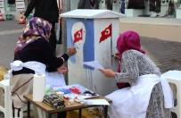 ELEKTRİK TRAFOSU - Trafolar Asker Ve Bayrak Resimleriyle Süslendi