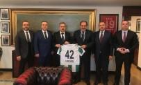 FATIH YıLMAZ - Atiker Konyaspor'dan Demirören'e Ziyaret