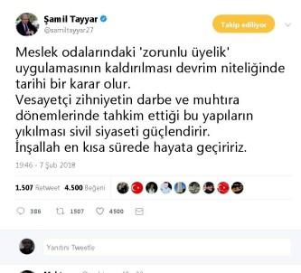 Milletvekili Tayyar'dan Zorunlu Üyelik Değerlendirmesi