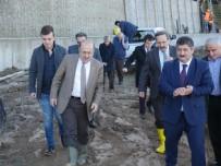 Sürmene'deki Heyelanlı Sahada 2. Etap Fore Kazık Çalışması Başladı