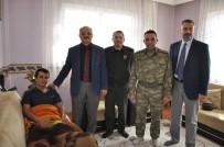 KARDEŞ KAVGASI - Akşehir Protokolünden Yaralı Uzman Çavuşa Ziyaret