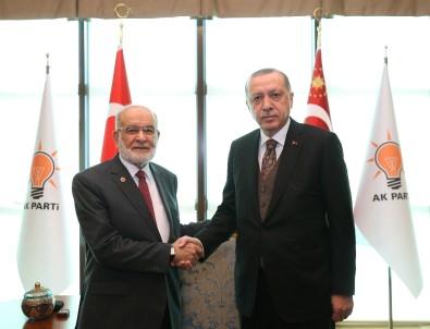 Erdoğan, Karamollaoğlu'nu kabul etti