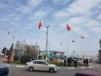 AYDOĞAN - Gölmarmara'daki Türk Bayrakları Yenilendi