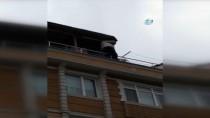 (Özel) Çatıdaki Tehlikeli Çalışma Kamerada