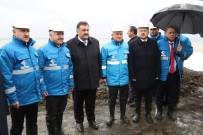 İŞ MAKİNASI - Bakan Arslan Rize-Artvin Havalimanı Dolgu Sahasında İncelemelerde Bulundu