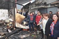 TUR YıLDıZ BIÇER - CHP'li Vekiller Yangın Çıkan Pazar Yerindeki Esnafı Dinledi