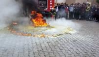TERÖRIZM - İtfaiye Ekipleri Tatbikat İle Yangın Ve Deprem Eğitimi Verdi
