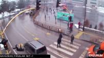 KIRMIZI IŞIK - Kırmızı Işık İhlali Yapan Otomobilin Çarptığı Genç Havaya Uçtu