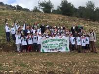 ÇOCUK ÜNİVERSİTESİ - Mersin Çocuk Üniversitesi Hatıra Ormanında Fidanlar Toprakla Buluştu