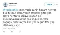 VASIP ŞAHIN - Öğrencilerden Vasip Şahin'e Kar Tatili Mesajları
