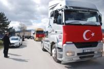ÖZELLEŞTIRME İDARESI - Şeker Fabrikasının Özelleştirilmesine Karşı Nakliyecilerden Konvoy Eylemi