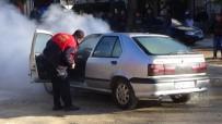 YETİŞTİRME YURDU - Seyir Halindeki LPG'li Araç Alev Aldı