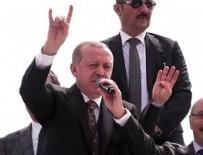 İL KONGRESİ - Cumhurbaşkanı Erdoğan Bozkurt işareti yaptı