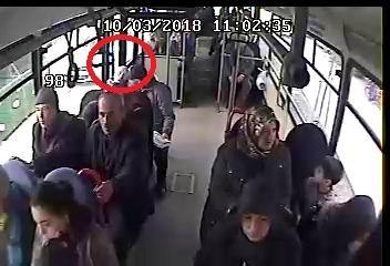 Otobüste ölüm kamerada!