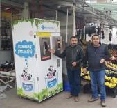 KAYMAKÇı - Ankaralılar Çiğ Sütünü Artık Süt Otomatlarından Alıyor