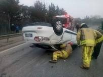 İTFAİYE ERİ - Kadıköy'de İlginç Kaza, İnanılmaz Kurtuluş Açıklaması 1 Yaralı