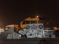ADANA EMNİYET MÜDÜRLÜĞÜ - Adana'da Vinçte 6 Bin Paket Kaçak Sigara Ele Geçirildi