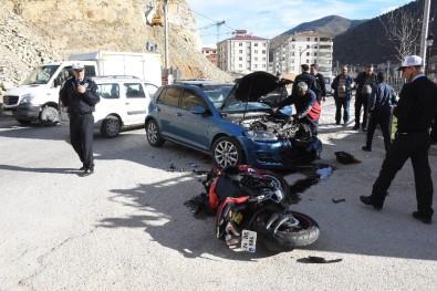 Gümüşhane'de Otomobille Motosiklet Çarpıştı Açıklaması 2 Yaralı