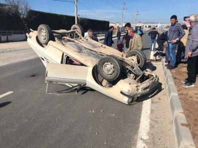 Uşak'ta Trafik Kazası Açıklaması 2 Yaralı