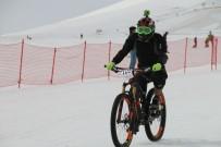 TAŞKıRAN - Bisiklet Tutkunları Kara Meydan Okudu