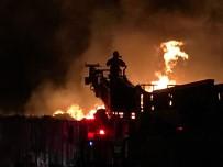 ÇANAKKALE BELEDİYESİ - Çanakkale'de Sebze Halinde Büyük Yangın