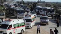 İDLIB - Esed'in Kuşattığı Kadem'den Bin 55 Sivil Tahliye Edildi