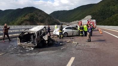 Korkunç kaza!! 2 kişi yanarak öldü