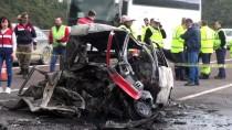 Otoyolda Ters Yönde İlerleyen Otomobil Kazaya Neden Oldu