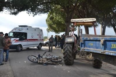 Saruhanlı'da Trafik Kazası Açıklaması 1 Yaralı