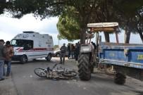 HACıRAHMANLı - Saruhanlı'da Trafik Kazası Açıklaması 1 Yaralı