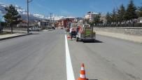 Seydişehir'de Yol Çizgileme Çalışmaları Başladı